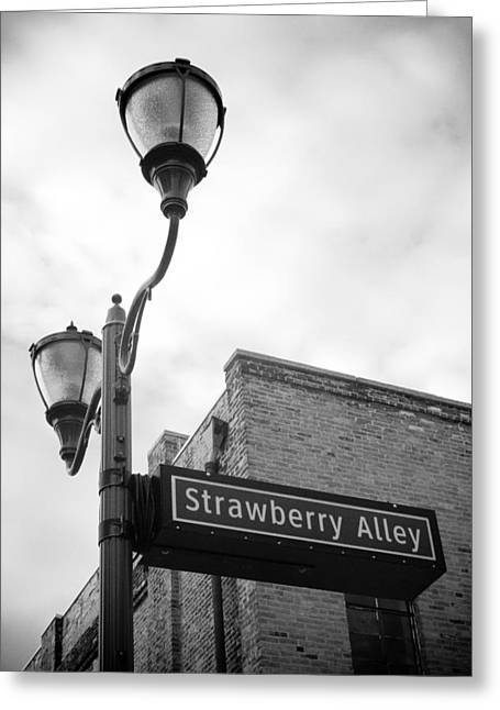 Strawberry Alley Greeting Card by Paul Bartoszek