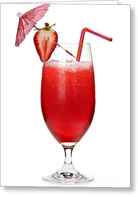 Strawberry Daiquiri Greeting Card by Elena Elisseeva