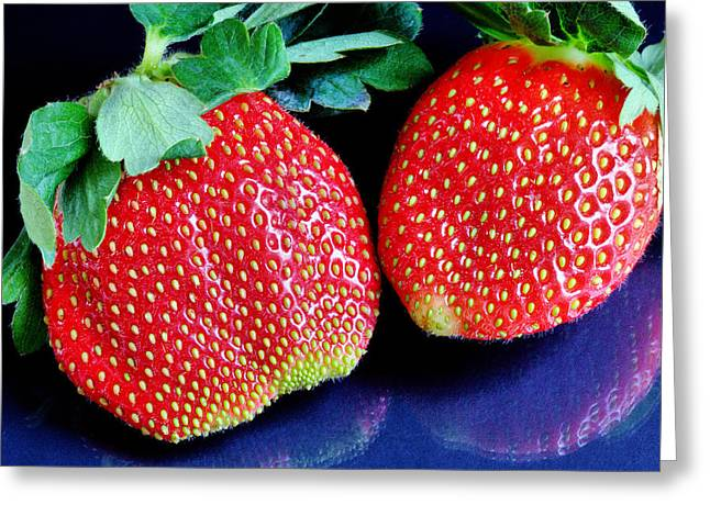 Strawberry  Greeting Card by JC Findley