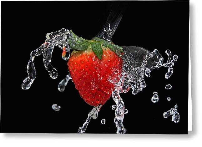 Strawberry-splash Greeting Card