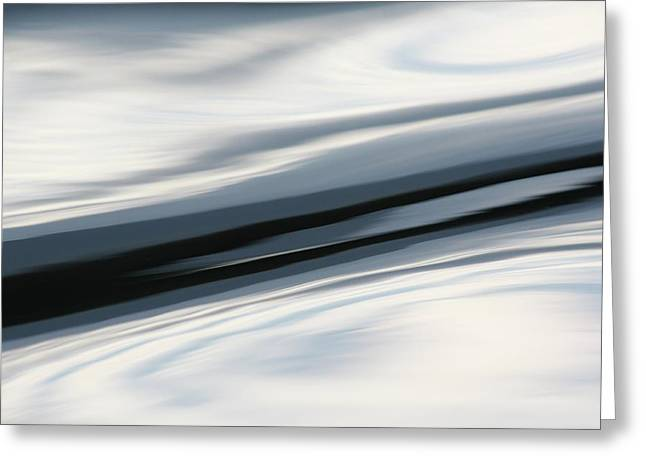 Greeting Card featuring the photograph Streak Of Blue by Cathie Douglas