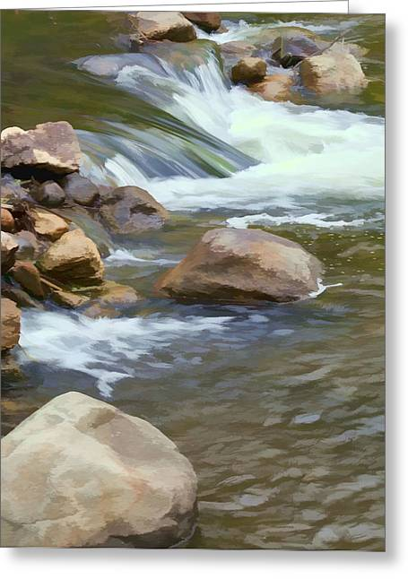 Greeting Card featuring the photograph Stream by John Crothers