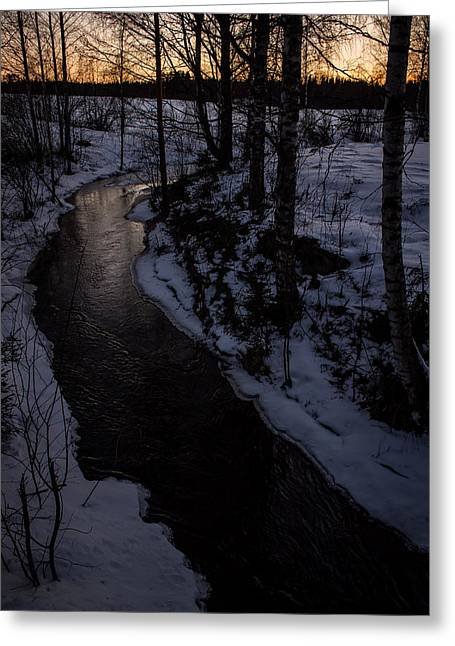 Greeting Card featuring the photograph Stream by Matti Ollikainen