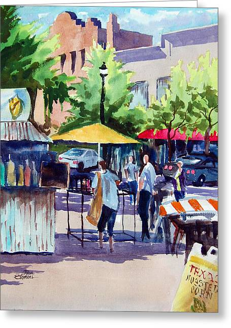 Street Fare Greeting Card by Ron Stephens