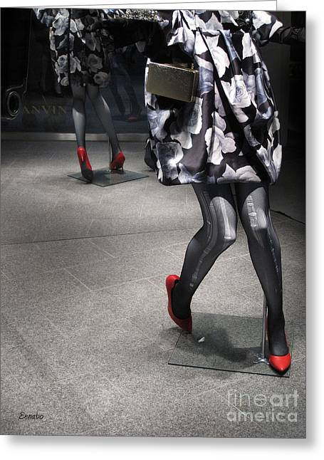Street Fashion Greeting Card by Eena Bo