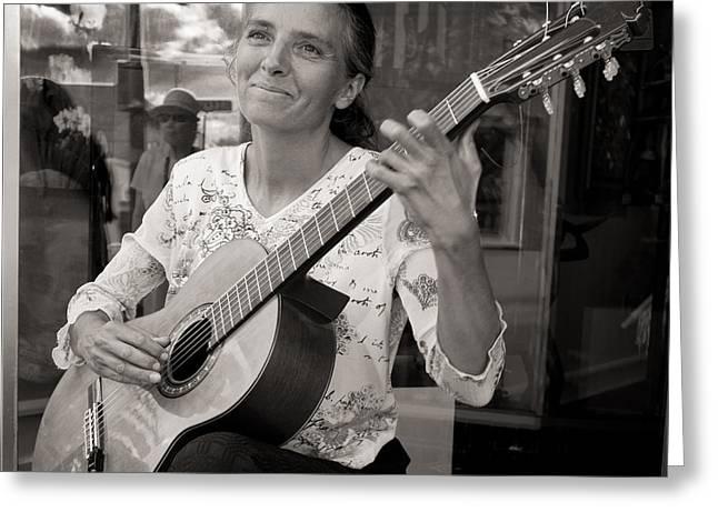 Street Guitarist Greeting Card by Dale Davis