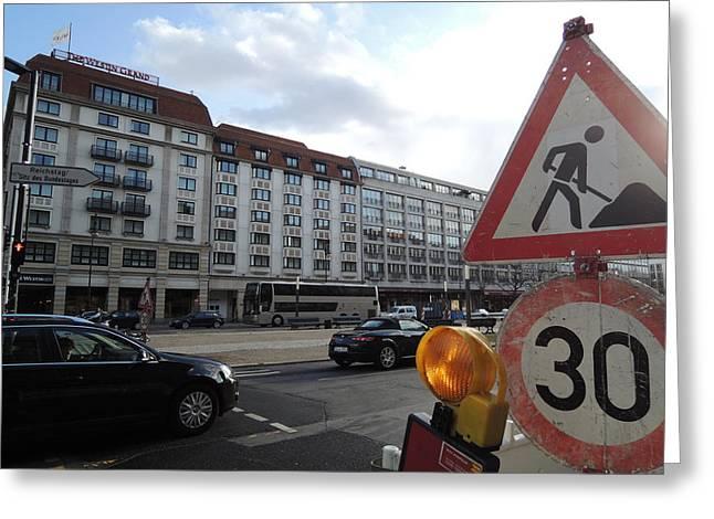 Street In Berlin Greeting Card by Chung Chui Leung