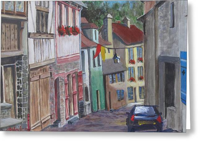 Street In Dinan Greeting Card by Heidi Patricio-Nadon