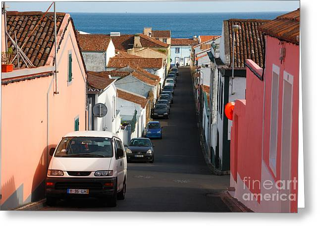 Street In Lagoa - Azores Greeting Card by Gaspar Avila