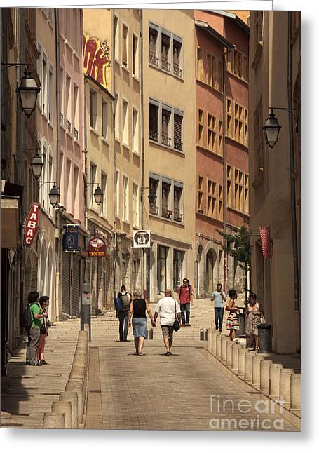 street in Lyon  Greeting Card