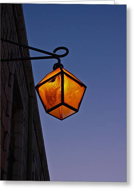 Street Light Greeting Card by Amr Miqdadi