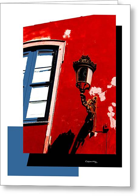 Street Light Collage Greeting Card