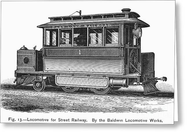 Street Locomotive, C1870 Greeting Card by Granger