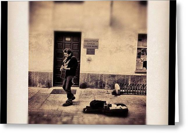 Street Musician Greeting Card