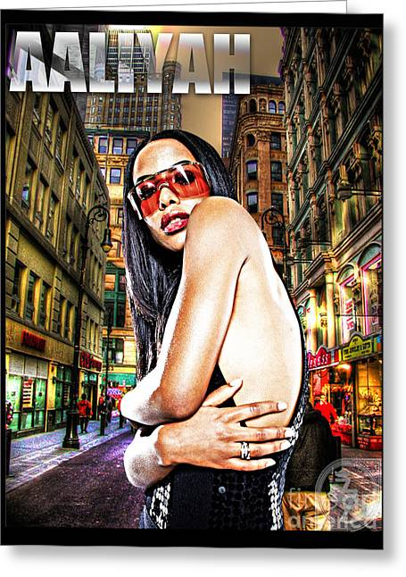 Street Phenomenon Aaliyah Greeting Card by The DigArtisT