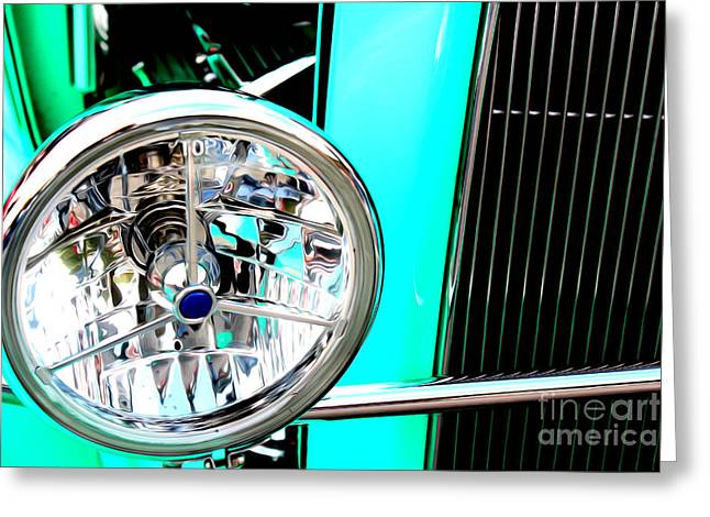 Greeting Card featuring the digital art Street Rod Beauty by Tony Cooper
