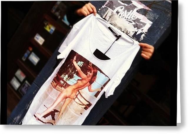 Street Style Shopping. #t-shirt #street Greeting Card