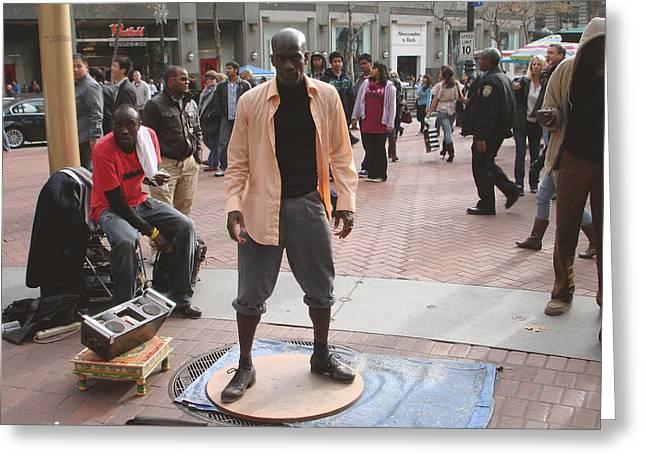 Street Tap Dancers No. One Greeting Card by Hiroko Sakai