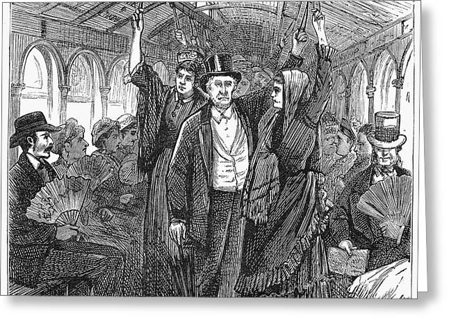 Streetcar, 1876 Greeting Card
