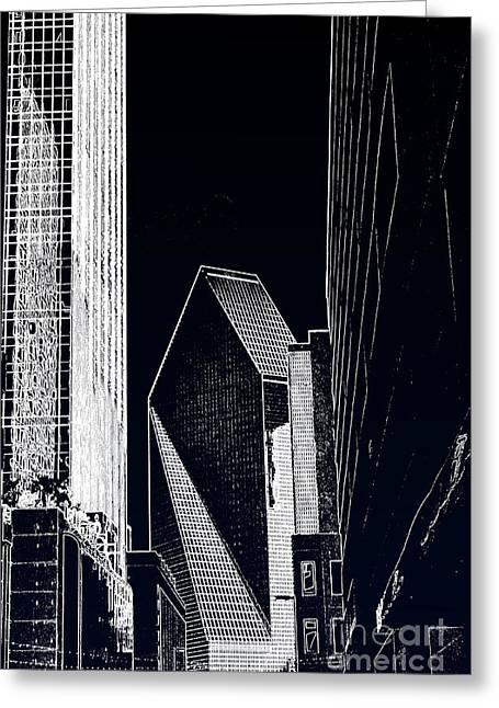 Streets Of Dallas Greeting Card by Joe Finney