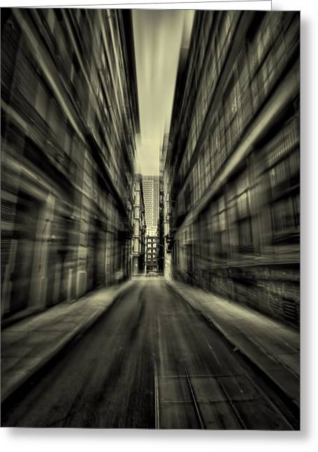 Streets Of Madness Greeting Card by Evelina Kremsdorf