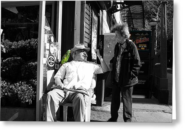 Streets Of New York 8 Greeting Card by Andrew Fare