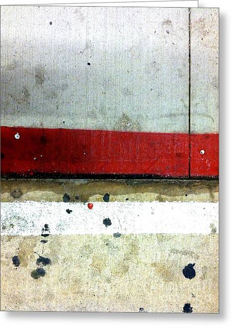 Streets Of New York Abstract Eight Greeting Card by Marlene Burns