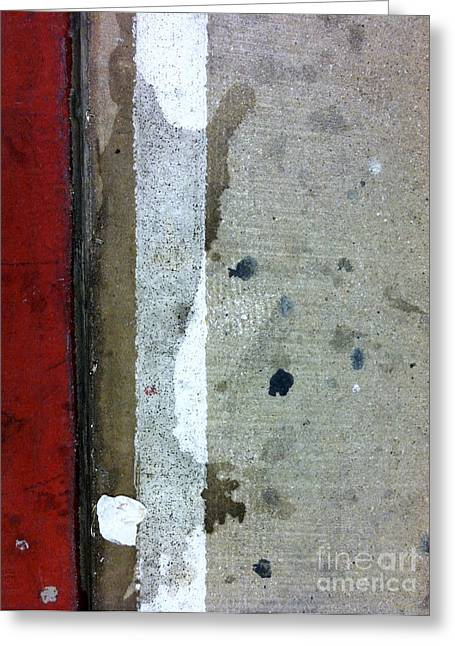 Streets Of New York Abstract Twelve Greeting Card by Marlene Burns