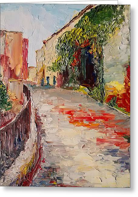 Streets Of Old Cannes Greeting Card