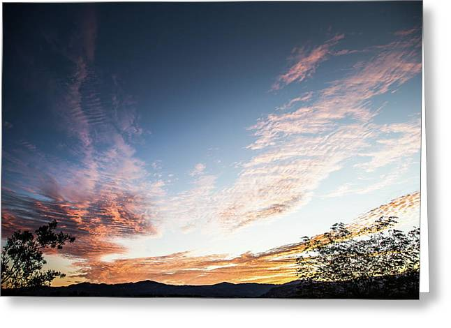 Striated Sunrise Greeting Card