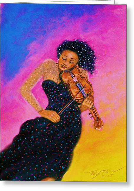 String Serenade Greeting Card by Terry Jackson