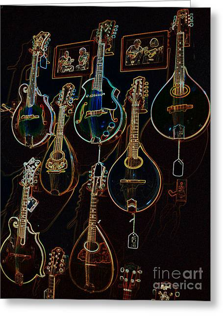 String Sounds Greeting Card by David Bearden