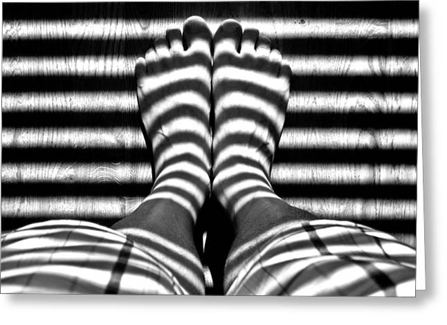 Stripe Socks? Greeting Card