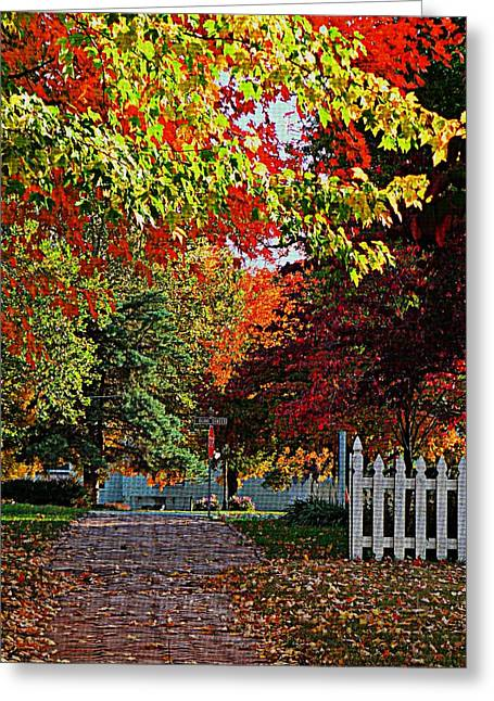 Stroll Down Seventh  Greeting Card by Chris Berry