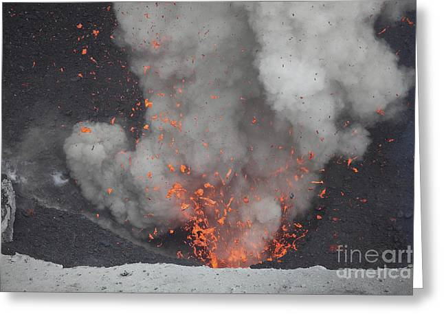 Strombolian Eruption From Vent Greeting Card