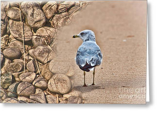 Stronger Than Sticks And Stones Greeting Card by Cathy  Beharriell