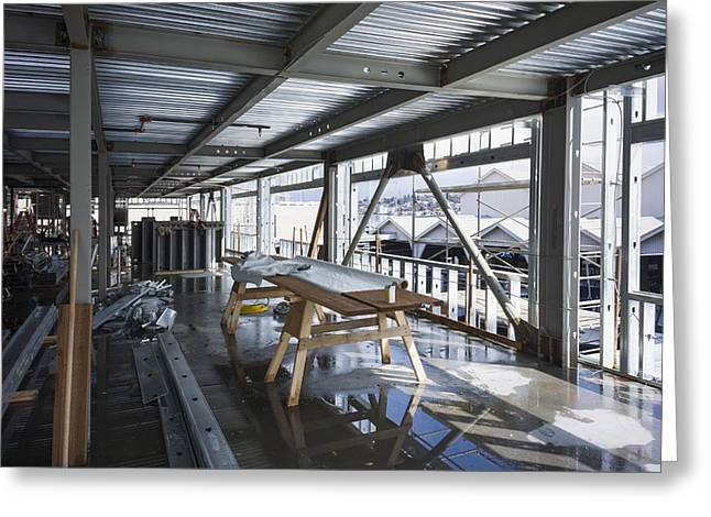 Structural Steel Construction. Metal Greeting Card by Don Mason