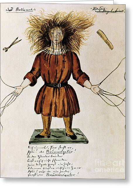 Struwwelpeter Greeting Card by Photo Researchers
