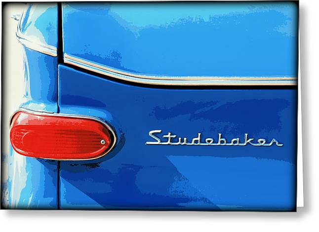 Studebaker 2 Greeting Card by Elizabeth Budd