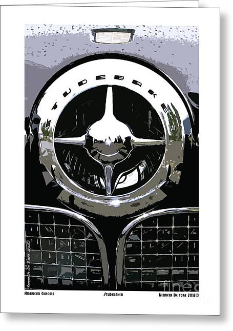 Studebaker American Chrome Greeting Card