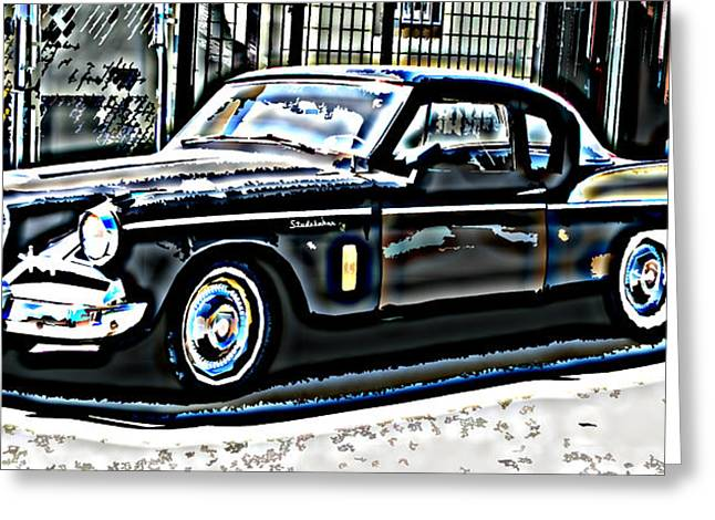Studebaker Golden Hawk 2 Greeting Card by Samuel Sheats