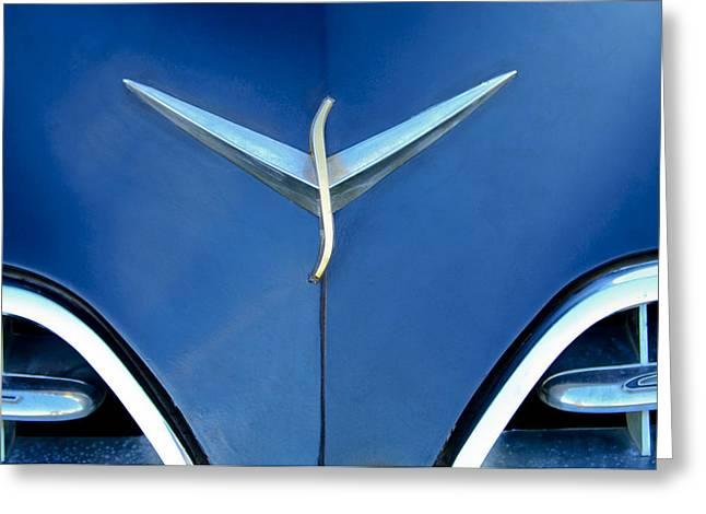 Studebaker Hood Emblem Greeting Card by Jill Reger