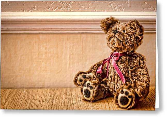 Stuffed Friend Greeting Card by Heather Applegate