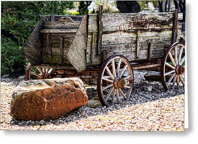 Stunning Antique Wagon Greeting Card