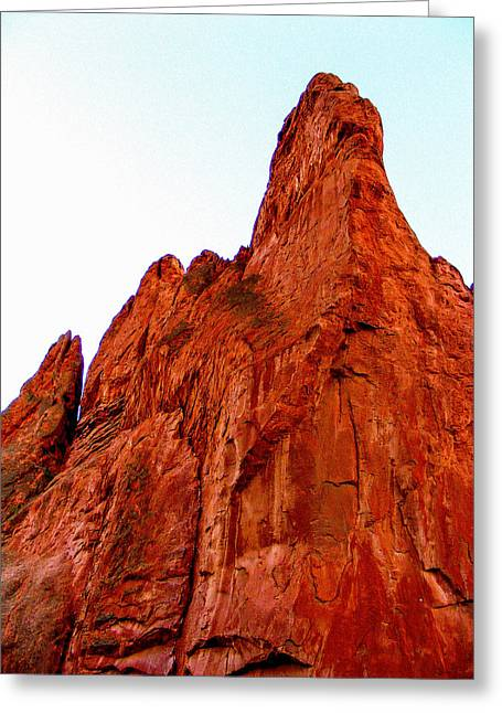 Stunning Red Rock From Garden Of The Gods Colorado Greeting Card