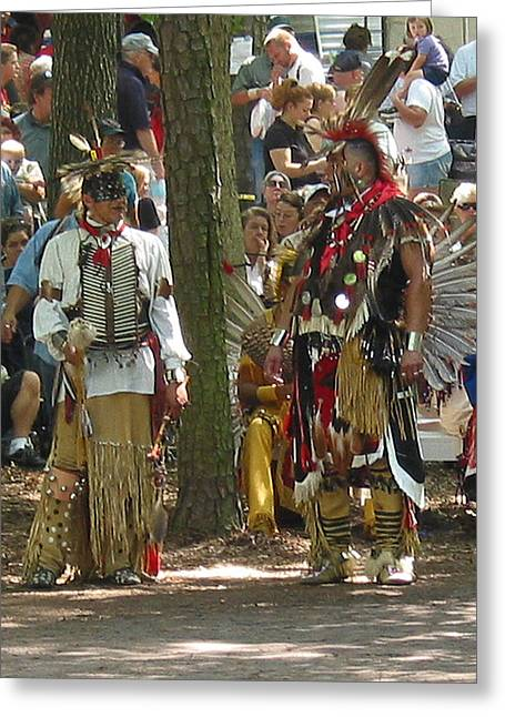 Subchiefs At Pow Wow Greeting Card