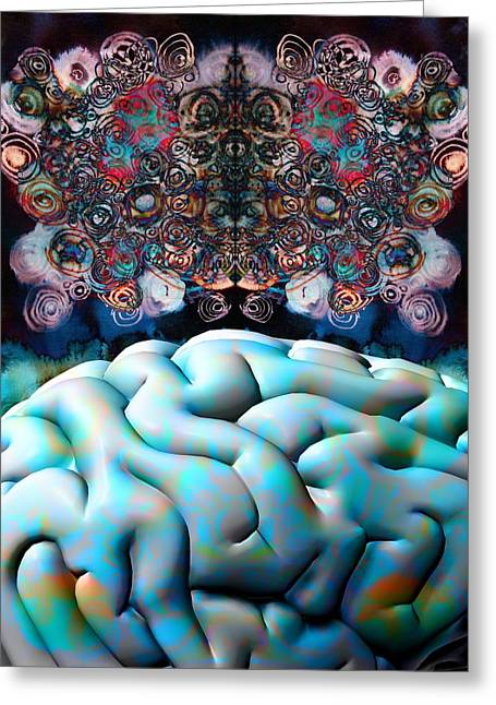 Subconsciousness, Conceptual Image Greeting Card by Stephen Wood