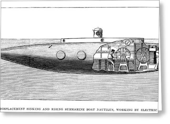 Submarine: Nautilus Greeting Card