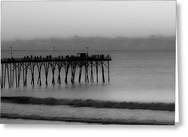Subtle Pier Greeting Card by Betsy Knapp