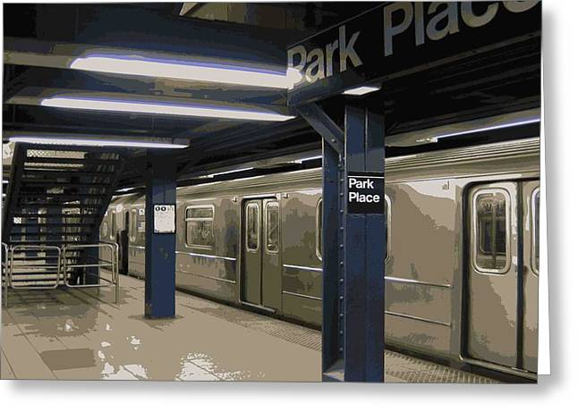 Subway Color 16 Greeting Card by Scott Kelley